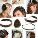 Plumas, piedras y flores en el cabello