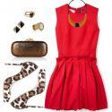 Complementos perfectos para un vestido rojo