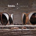 Gafas de madera artesanal con formas geométricas