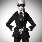 Karl Lagerfeld viste a la Barbie a su imagen y semejanza