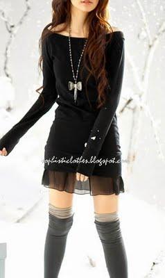 vestido negro emo