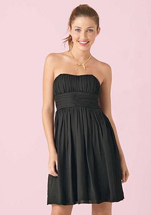 vestido negro palabra de honor
