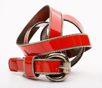 cinturon rojo