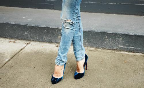 zapatos de terciopelo
