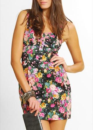 vestido floreado mango