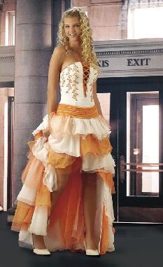 vestido melocoton