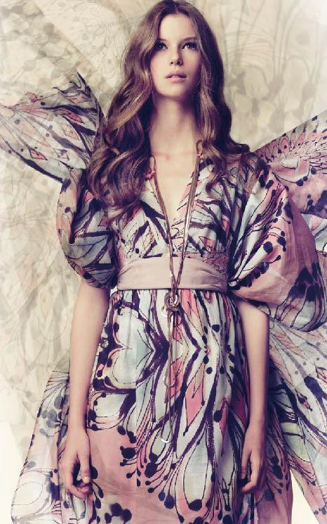 vestido mariposa hoss