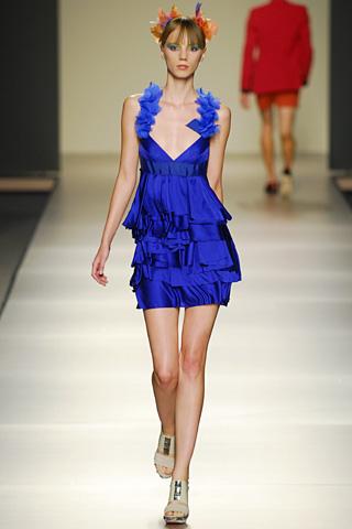 v&L vestido azul