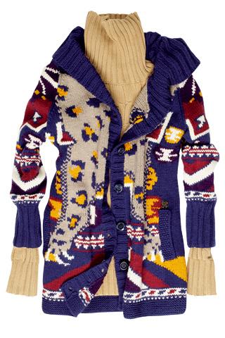 saco de lana tejido camel 2011