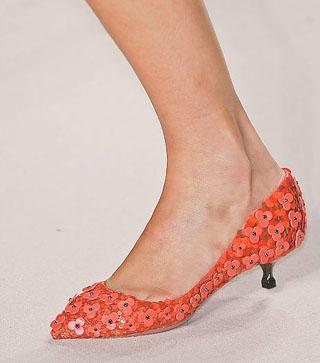 Zapatos con flores Loewe