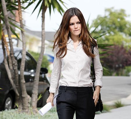 Camisa blanca moda otoño 2011