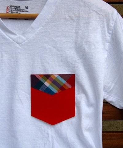 bolsillos camisetas