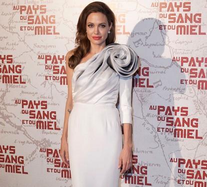 Angelina Jolie vestidos blanco