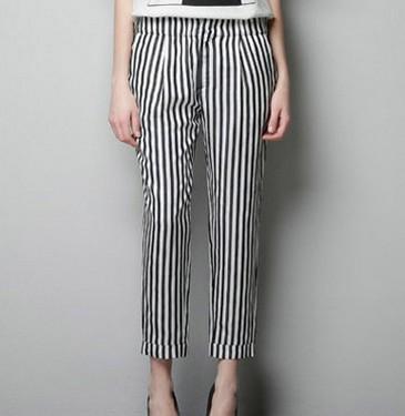pantalón blanco y negro