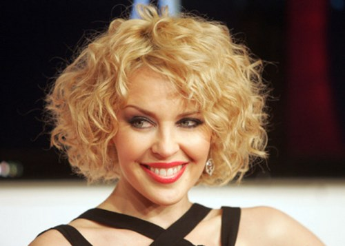 Australian singer Kylie Minogue poses fo